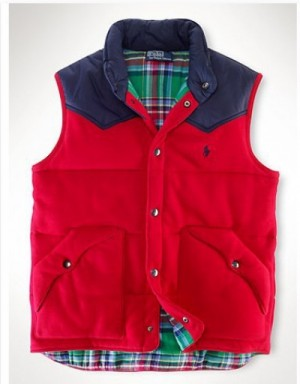Ralph Lauren Polo Down Vest Sleeveless In 330892 For Men