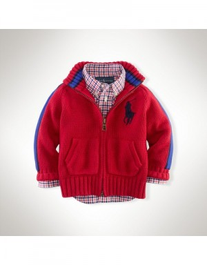 Ralph Lauren Polo Jackets Long Sleeved In 364742 For Kids