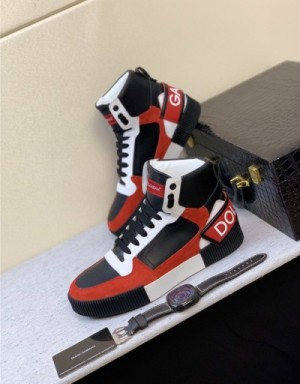 Dolce & Gabbana D&G High Tops Shoes For Men #735072
