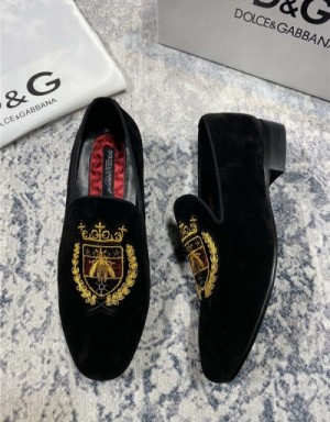 Dolce & Gabbana D&G Leather Shoes For Men #739449