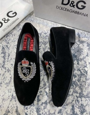 Dolce & Gabbana D&G Leather Shoes For Men #739450