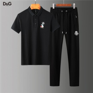 Dolce & Gabbana D&G Tracksuits Short Sleeved Polo For Men #755824