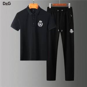 Dolce & Gabbana D&G Tracksuits Short Sleeved Polo For Men #755825