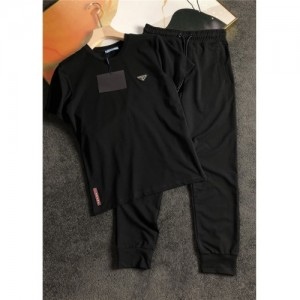 Prada Tracksuits Short Sleeved O-Neck For Men #755884