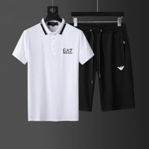 Armani Tracksuits Short Sleeved Polo For Men #760953