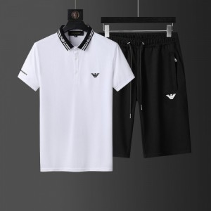 Armani Tracksuits Short Sleeved Polo For Men #760954