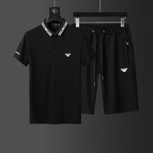 Armani Tracksuits Short Sleeved Polo For Men #760955