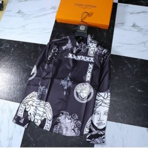 Versace Shirts Long Sleeved Polo For Men #761497