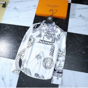 Versace Shirts Long Sleeved Polo For Men #761498