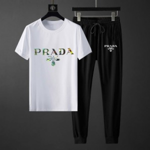 Prada Tracksuits Short Sleeved O-Neck For Men #764840