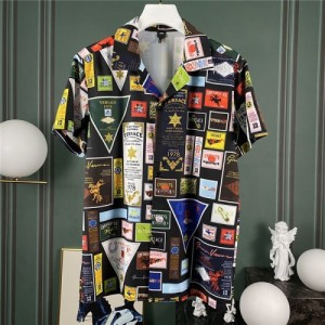 Versace Shirts Short Sleeved Polo For Men #765263