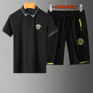 Versace Tracksuits Short Sleeved Polo For Men #765369