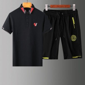 Versace Tracksuits Short Sleeved Polo For Men #765376