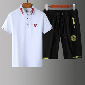 Versace Tracksuits Short Sleeved Polo For Men #765378