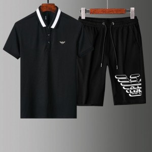Armani Tracksuits Short Sleeved Polo For Men #765548