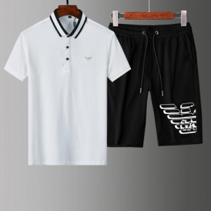 Armani Tracksuits Short Sleeved Polo For Men #765549