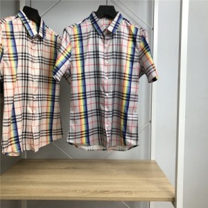 Burberry Shirts Short Sleeved Polo For Men #766081
