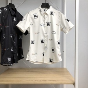 Burberry Shirts Short Sleeved Polo For Men #766082