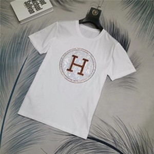 Hermes T-Shirts Short Sleeved O-Neck For Men #769776