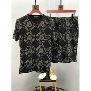 Versace Tracksuits Short Sleeved O-Neck For Men #770363