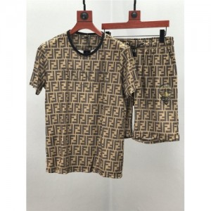 Fendi Tracksuits Short Sleeved O-Neck For Men #770364