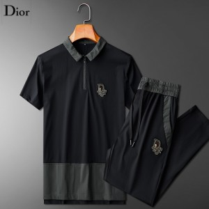Christian Dior Tracksuits Short Sleeved Polo For Men #771383