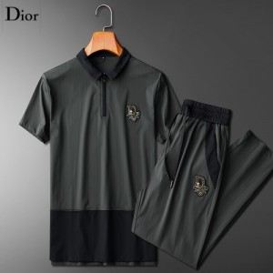 Christian Dior Tracksuits Short Sleeved Polo For Men #771384