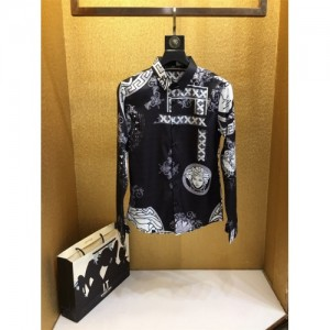 Versace Shirts Long Sleeved Polo For Men #772163