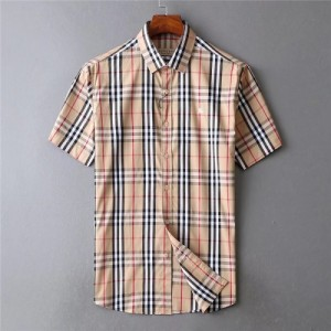Burberry Shirts Short Sleeved Polo For Men #773413
