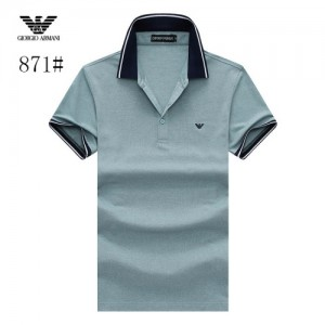 Armani T-Shirts Short Sleeved Polo For Men #773577