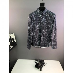 Armani Shirts Long Sleeved Polo For Men #773701