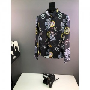 Versace Shirts Long Sleeved Polo For Men #773708